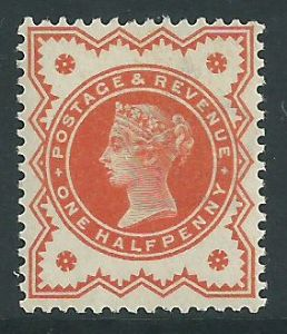 SG197 ½d Vermilion 1887 Jubilee Issue MOUNTED Mint (Queen Victoria Surface Printed Stamps)